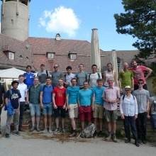 Institute excursion to Burg Teck and Freilichtmuseum Beuren on a beautiful sunny day in May 2018.